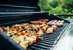 grilling food on pellet grill
